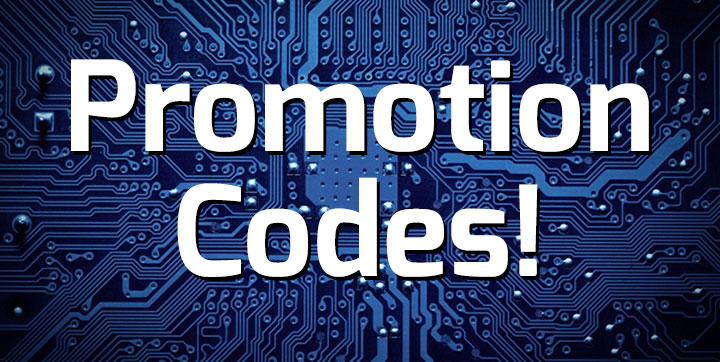 Promotion codes banner