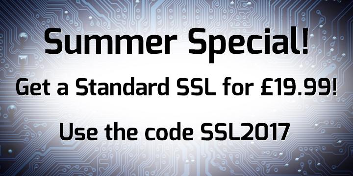 SSL Promotion banner