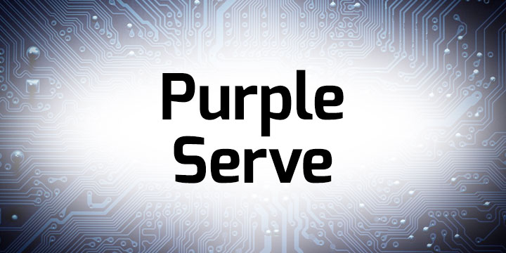 Purple Serve Banner