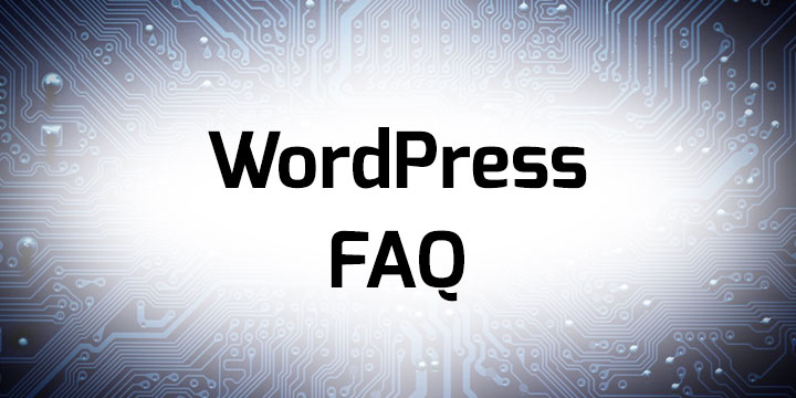 WordPress faq banner