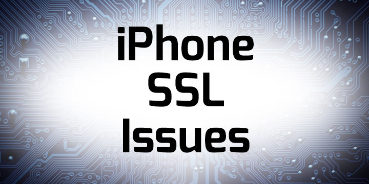 iPhone SSL Banner