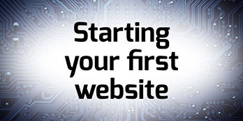 Starting your first website'