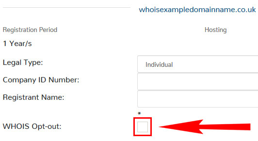 WHOIS opt out